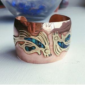 *RARE* Vintage Celia Harms Copper Wrist Cuff